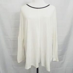 Zara Jersey Knit Hi Lo Top